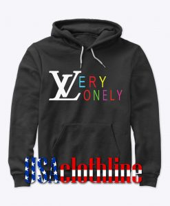 very lonely font hoodie