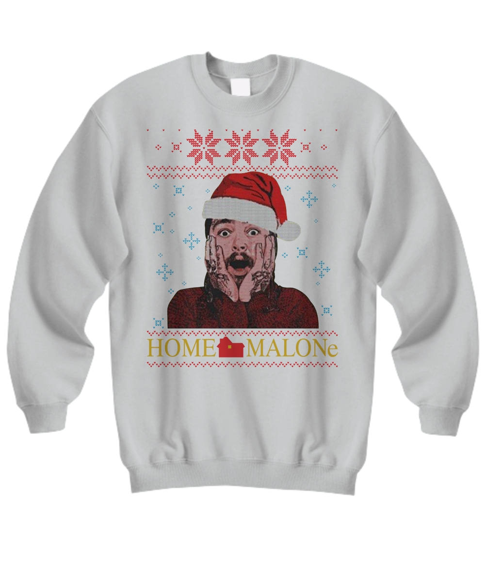 Post Malone Home Malone Ugly Christmas Sweater AD