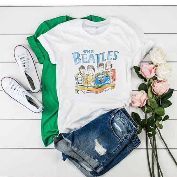Vintage The Beatles Band t shirt ADR